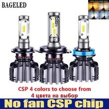Бэдж светодиодный CSP автомобилей головной светильник H4 H7 светодиодный 3000K 4300K 6500K 8000K H1 H3 H8 H9 H11 9005 9006 HB3 HB4 880 881 светодиодный лампы автомобильная Противо-Туманная светильник