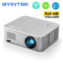 BYINTEK K15 projektor 4K 1920x1080P inteligentny Android Wifi Proyector LED wideo Beamer dla 3D 4K 300 cala kino domowe najnowszy 1080p tanie tanio Instrukcja Korekta Projektor cyfrowy Ue wtyczka Us wtyczka Au plug Wtyczka uk 16 09 100W Brak 350 ANSI lumens 1920x1080 dpi