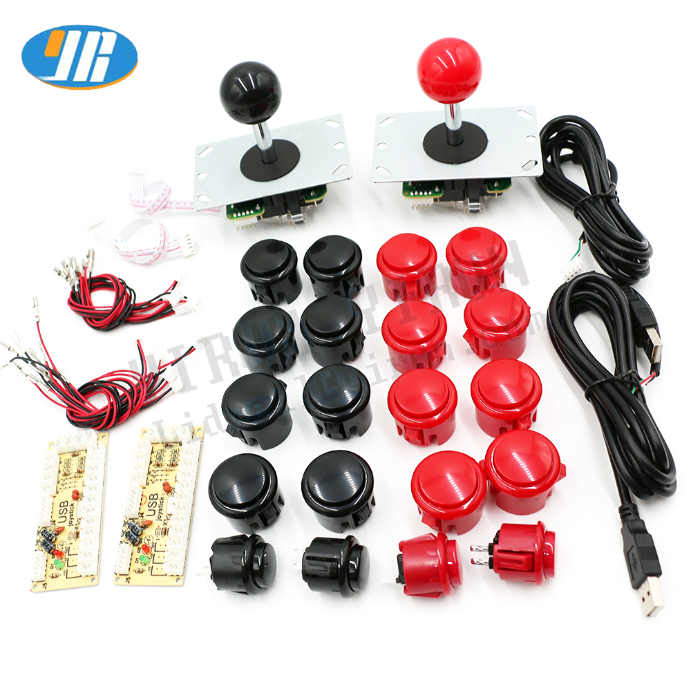 LED Buttons Easy Assembly -USA Sanwa USB Encoder Bartop Arcade Kit Bundle