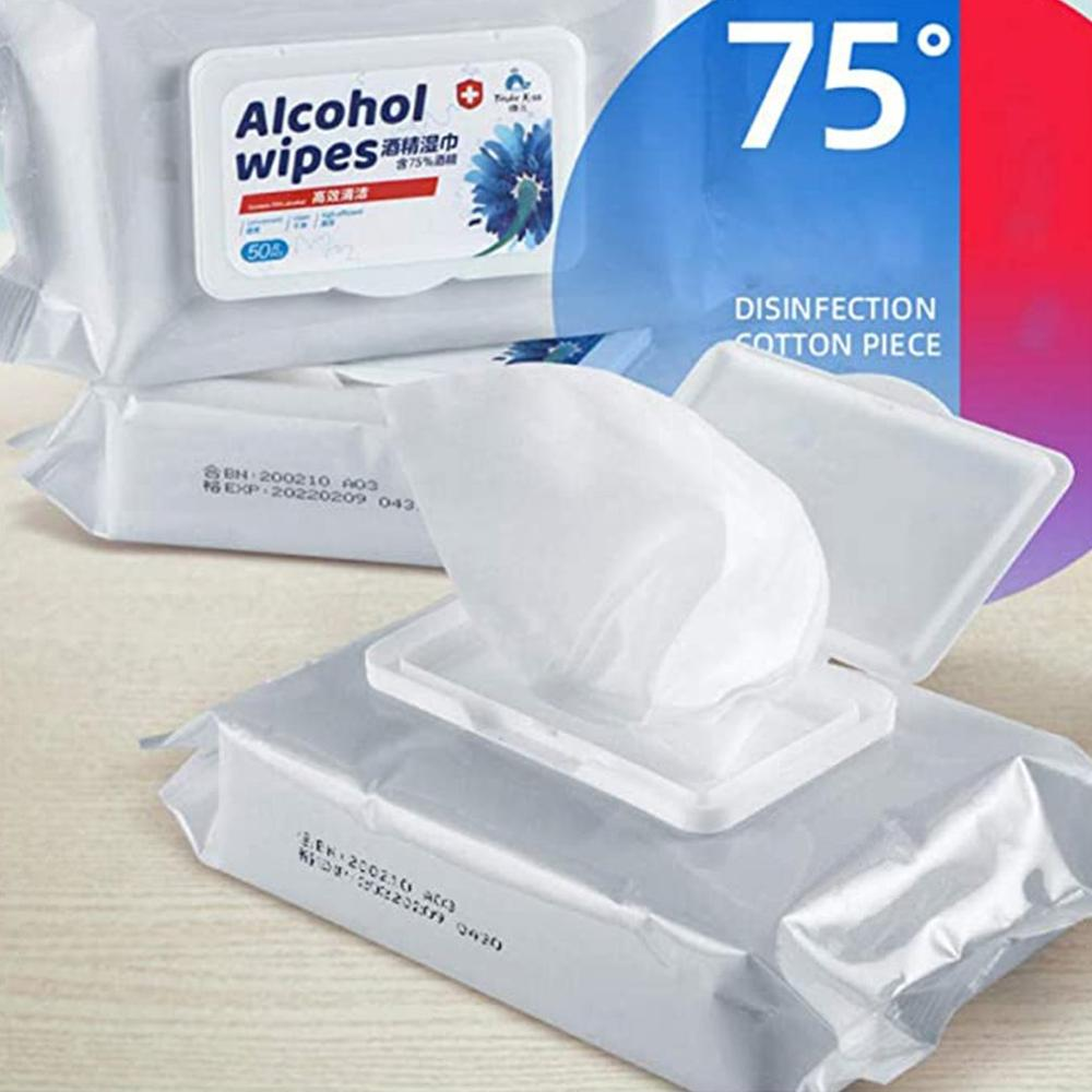 60PCS Soft 75/% Alcohol Anti-Bacterial Disinfectant Wet Wipes for Toilet Household Daily Cleaning and Sanitizing Anti-Bacterial Baby Moist Wipes 6 Pack Antibacterial Wipes Hand