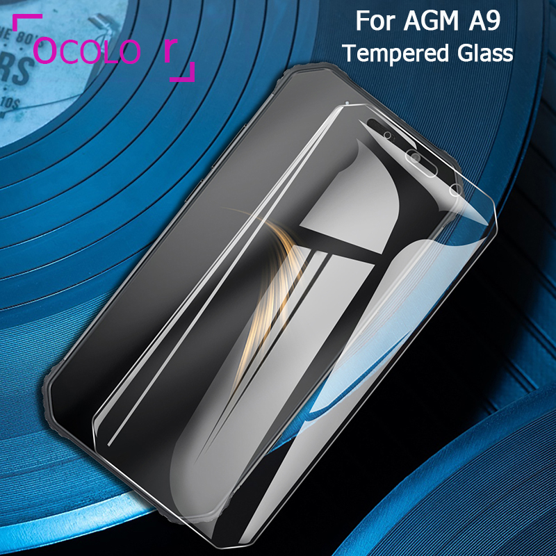 ocolor For AGM A9 Steel Tempered Glass Film Protective Replacement Screen Guard For AGM A9 Glass Film 5.9'' Phone Accessories
