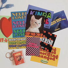 Ретро американская Милая кошка английская Художественная открытка