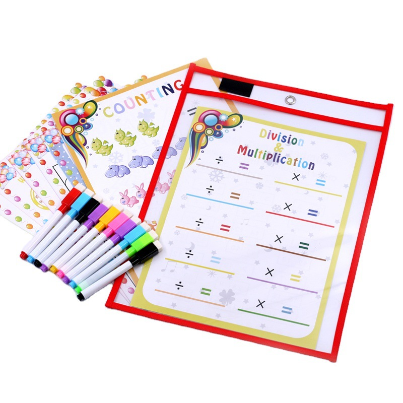 A4 Magic Book Rewritable File Bag Graffiti Transparent Reusable Teaching Aids Learning Copying And Practicing Dry Erase File Bag