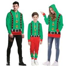 Рождественские свитера; коллекция года; Семейные рождественские комплекты для мамы и дочки, папы и сына; рубашки для маленьких мальчиков и девочек