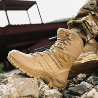 39 47 Winter Military Boots Men Warm Army Boots Men' s Tactical Desert Combat High Top Ankle Boots Men Outdoor Work Shoes Men