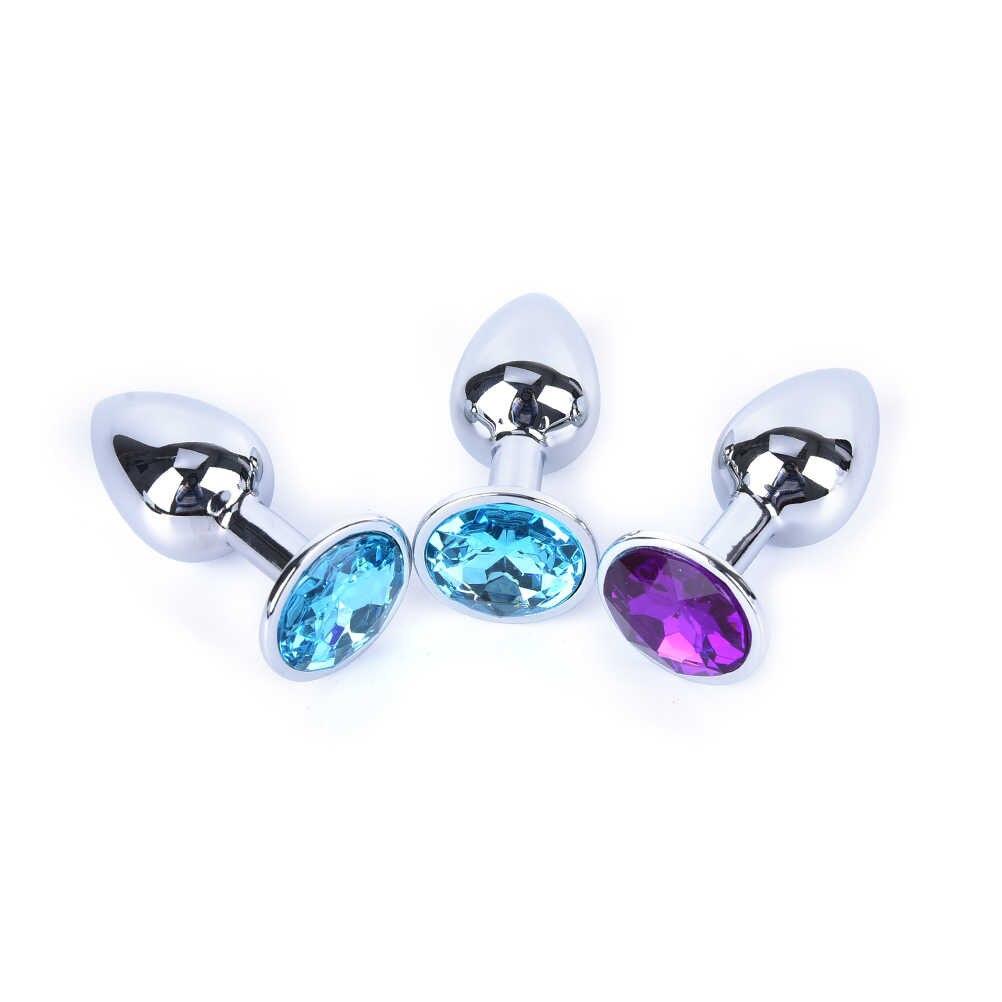 1 PC Kristal Anal Plug Logam Anal Mainan Seks untuk Wanita dan Pria Erotis Bokong Butt Perhiasan Dewasa Manik-manik Anus produk