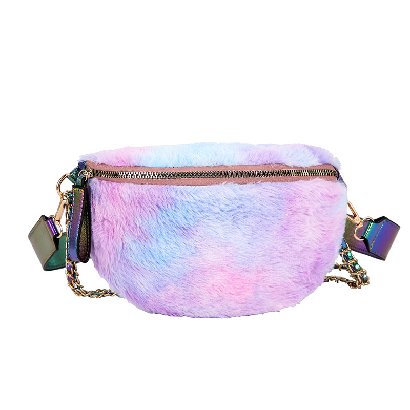 Belt Waist Bag Women Fanny Pack 2019 Fashion Cross Body Multi-functional Outdoor High Capacity Hip Furry Color Chest Waist Bag