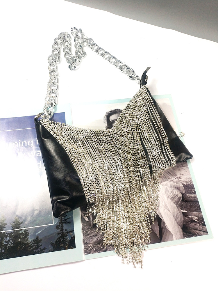 Bag For Women Fashion Designer Handbags Soft PU Leather Crossbody Punk Tassel Chain Shoulder Women Bags-BeeInFly