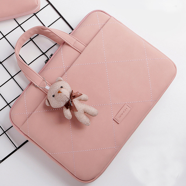 Cute Pink Laptop Sleeve Bag For Female With Free Extra Mouse Bag 4