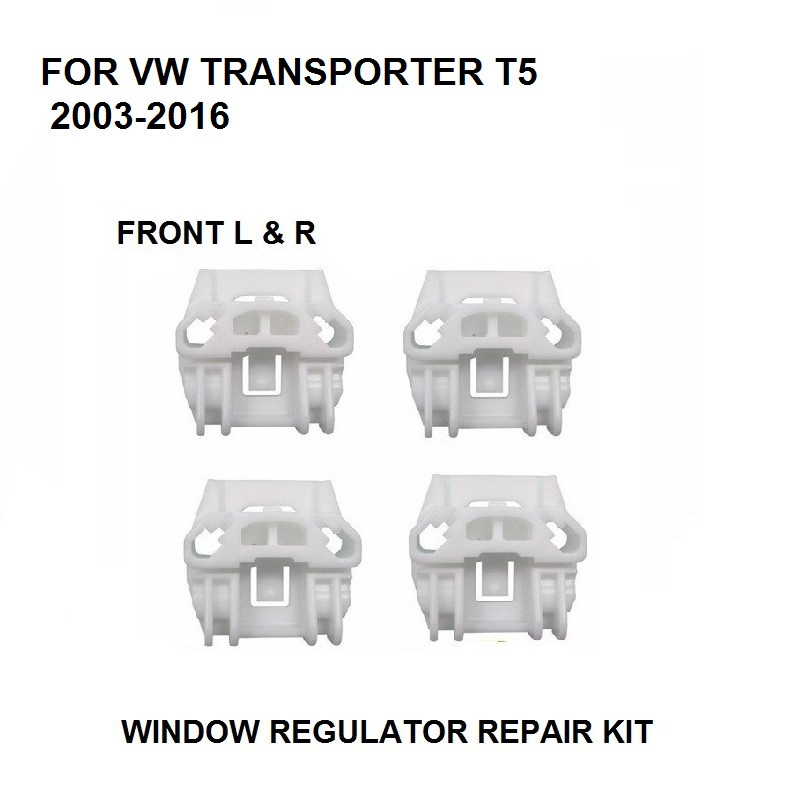 X4 CLIPS FOR VW TRANSPORTER T5 / Multivan 2003-2016 WINDOW REGULATOR REPAIR KIT FRONT LEFT And RIGHT 7H0 837 753 B,7H0 837 754 B