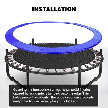 Uniwersalna wymiana trampoliny bezpieczna podkładka trwała Oxford łatwa instalacja trampolina obudowa ochronna z wytrzymałym paskiem montażowym tanie i dobre opinie CN (pochodzenie) Trampoline Protection Cover