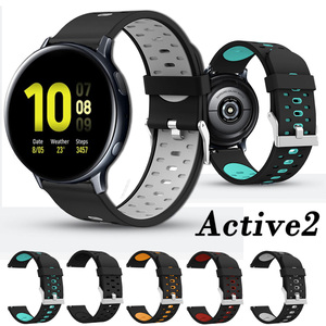 For Samsung galaxy watch Active 2 40mm 44mm Strap Silicone Bracelet Wristband Active2 20mm Watch Strap ремешок pulseira