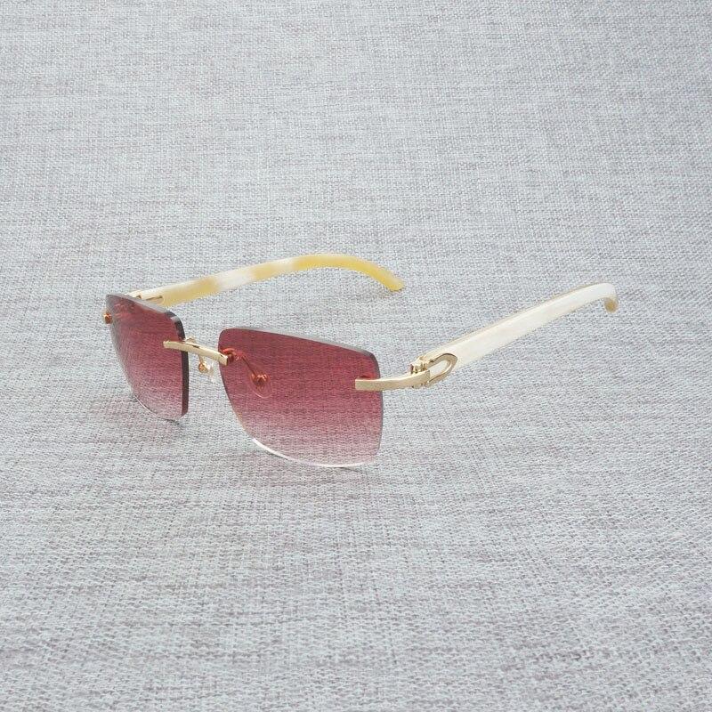 Новые фирменные дизайнерские мужские Квадратные Солнцезащитные очки негабаритных солнцезащитных очков прозрачные металлические золотые ... - 4