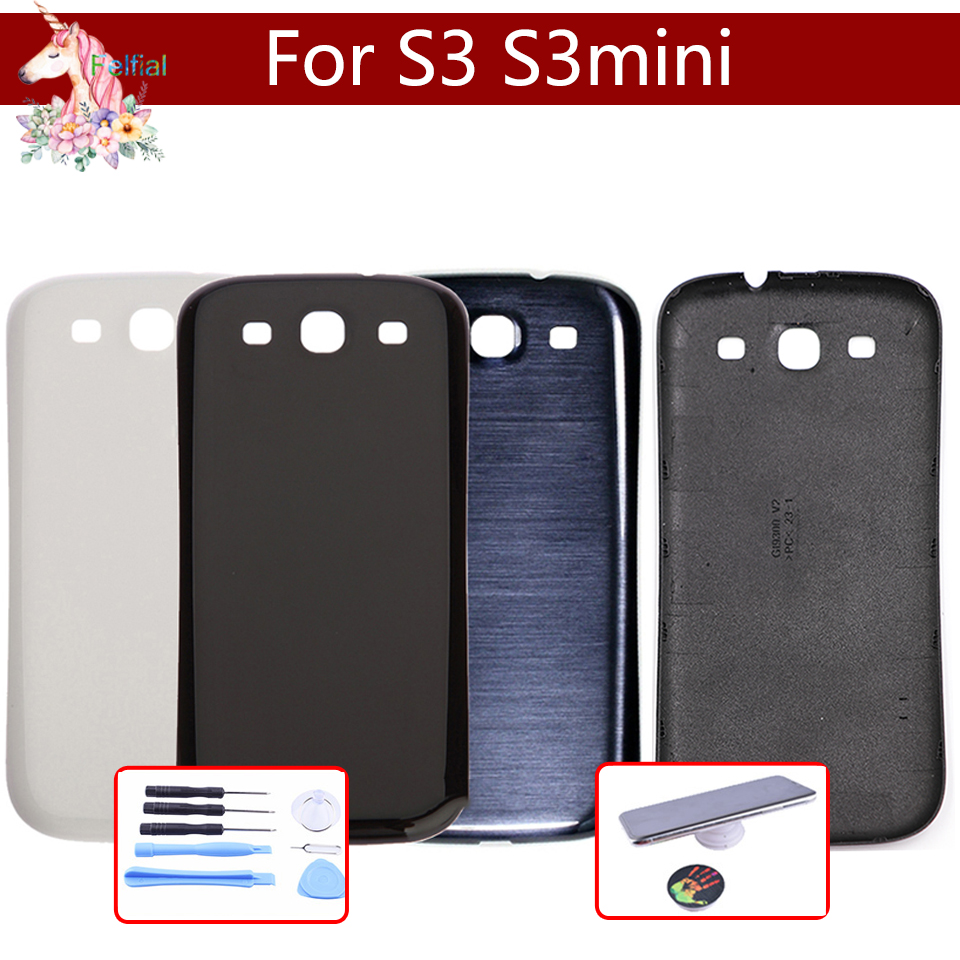 For Samsung Galaxy S3 i9300 GT-i9300 i9305 S3 MINI s3mini <font><b>i8190</b></font> GT-I8190N <font><b>Back</b></font> Housing Cover Case <font><b>Battery</b></font> Cover Replacement image
