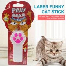 Zabawne łapy w kształcie elektryczny kot wskaźnik laserowy zabawki kocięta kot zagraj w interaktywne LED światło podczerwone pióro zabawkowe zwierzątko produktów
