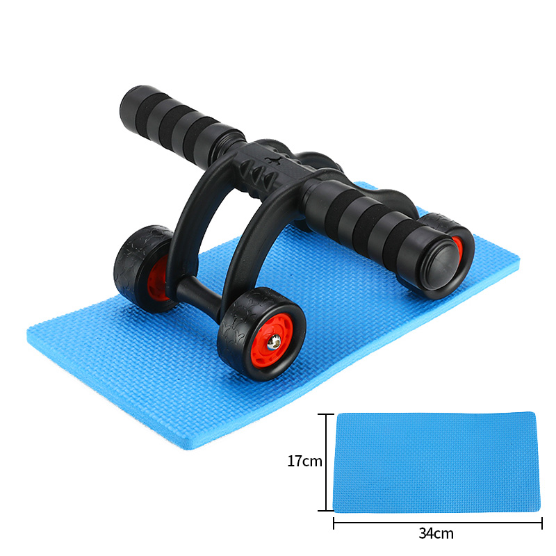 Muscle Trainer Abdominal Wheel AB Roller With Mat Abdominal for Waist and Abdomen Exercise Fitness Equipment Power Roller image
