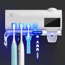 UV Light Toothbrush Automatic Toothpaste Dispenser Sterilizer Toothbrush Holder Cleaner