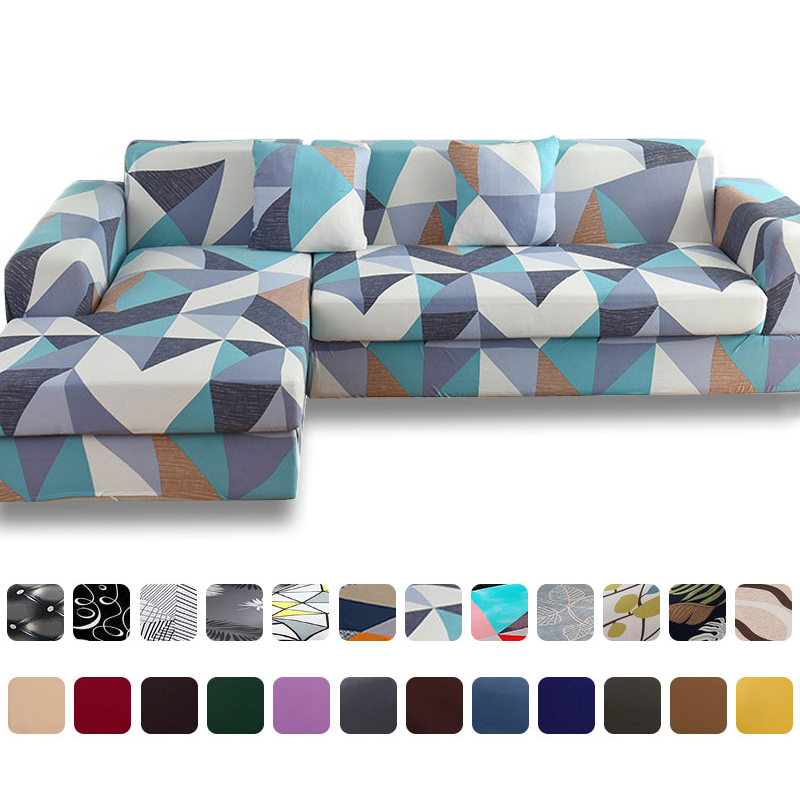 Geometric Style Sofa Covers Universal Modern Elastic Stretch Sofa Covers For Living Room Pillow Case Sectional