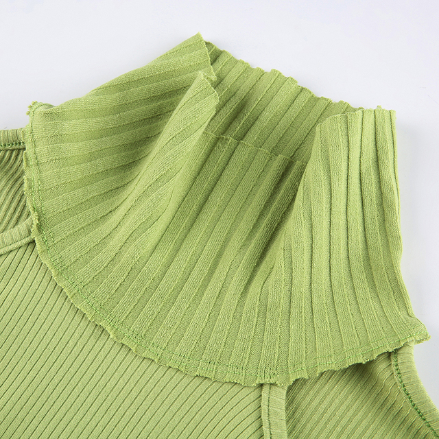 Cut Out T-shirt with turtleneck