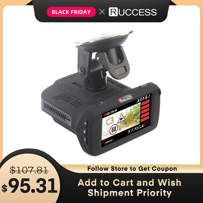 Ambarella a7la50 3 em 1 gps carro dvr câmera do carro anti radar carro-detector traço cam gravador de vídeo 1296p speedcam hd 1080p strelka