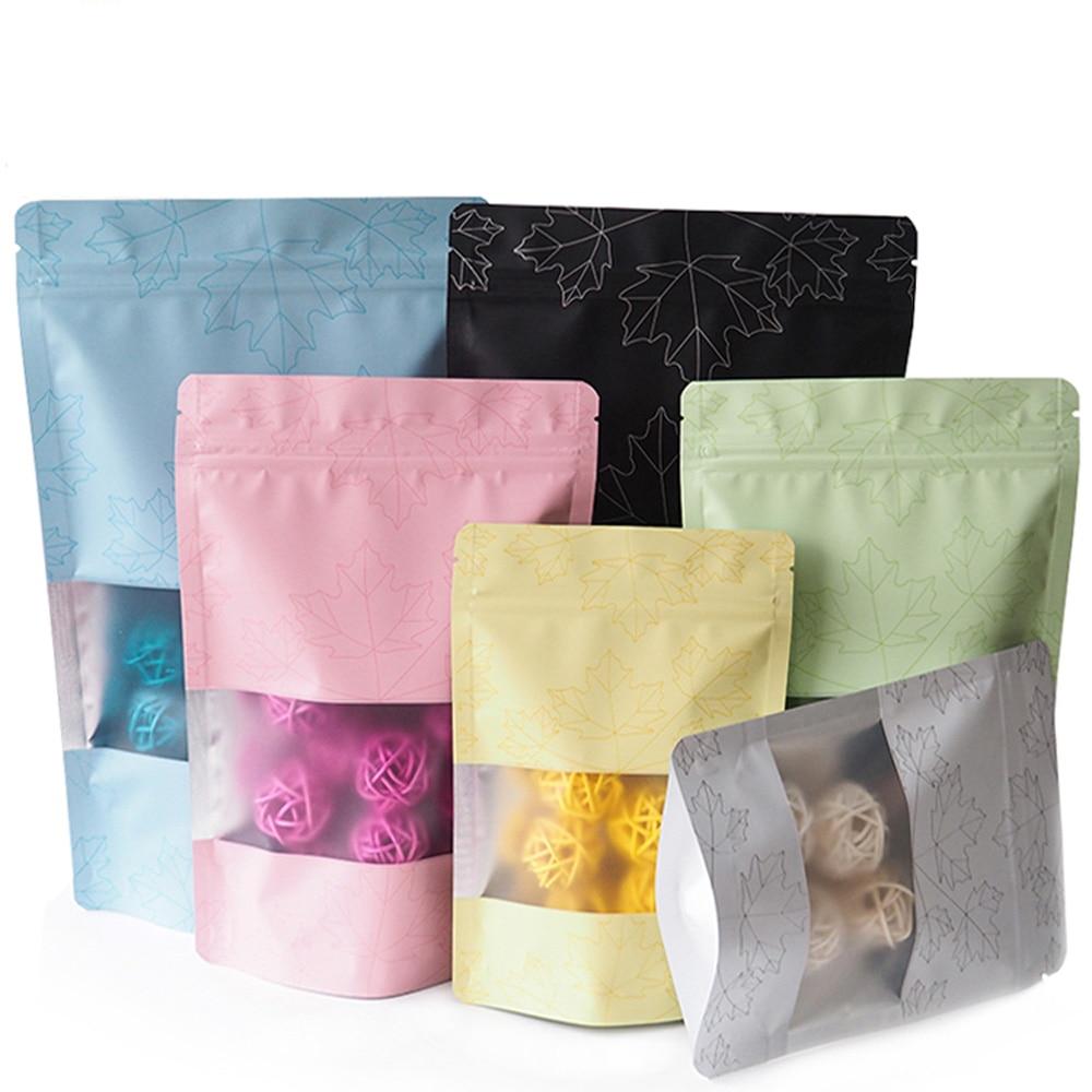 Sacos ziplock reusáveis dos malotes do presente com janela e teste padrão sacos recicláveis do armazenamento de eco mylar da folha de alumínio