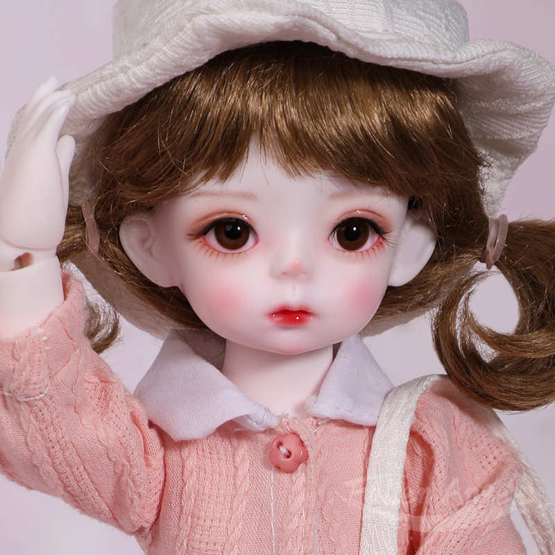 Lovely Sool Girl Doll Bjd 1/6 26cm Sd Dolls Toys Full Set Resin Joint Body With Make Up Wigs Doll Clothes Shoes Doll Gift Kids