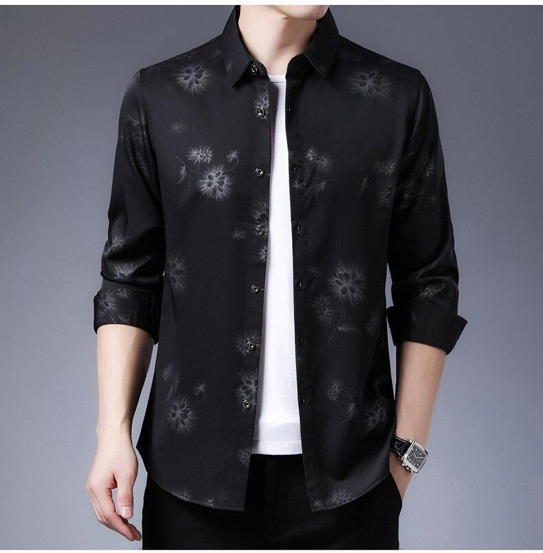 Hd0b96bafa6164f529199c66f9d7bec9a5 2020 Brand Long Sleeve Men Social Shirt Streetwear Casual Dandelion Shirts Dress Mens Slim Regular Fit Clothes Fashions 80503
