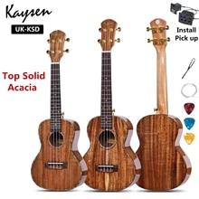 Ukulele Top Solid Acacia 23 26 Inch Concert Tenor Highgloss Electric Mini Acoustic Guitar 4 Strings Ukelele Guitarra
