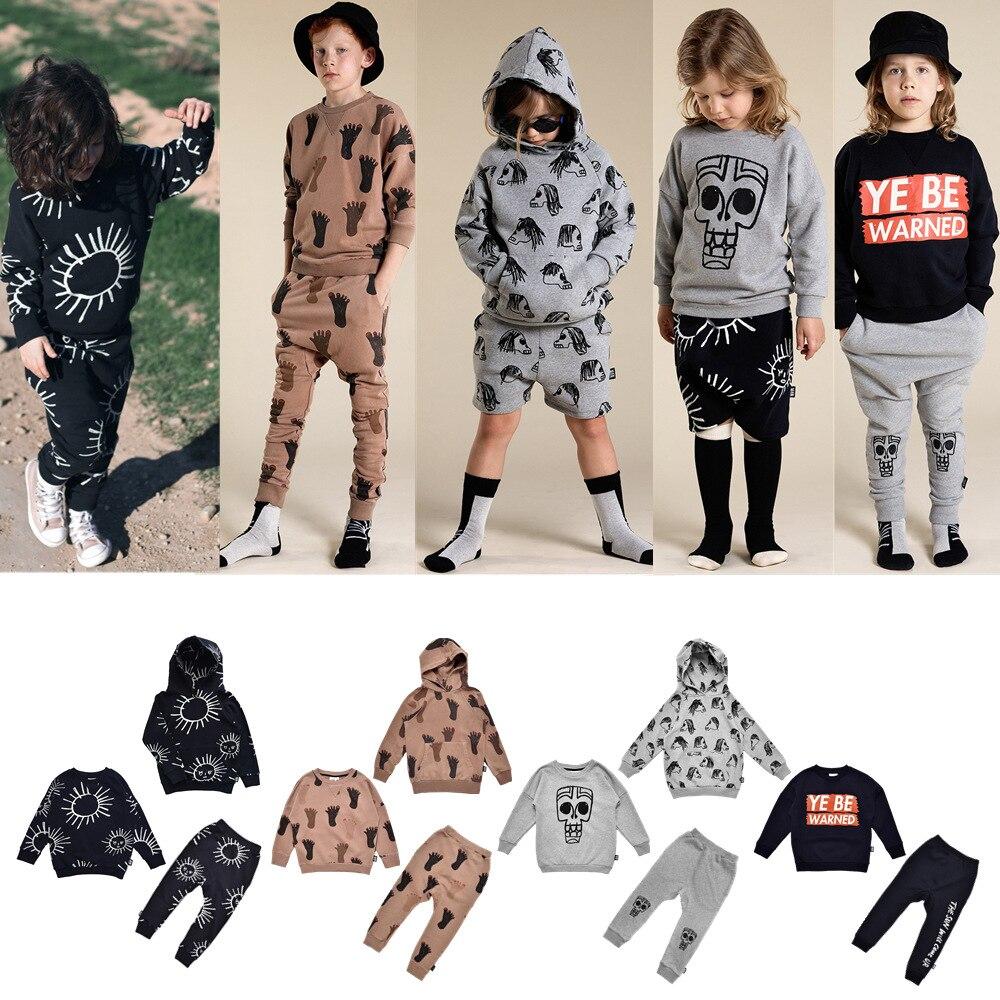 2020 herbst Kinder Kleidung Wenig Mann Glücklich Kleinkind Mädchen Sweatshirt Hosen Thanksgiving Mädchen Weihnachten Outfit Baby Jungen Outfits