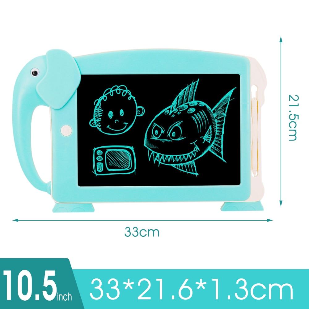 10,5 дюймов ЖК-дисплей планшет для письма цифровые электронные письменная доска для рисования картины планшет для рисования Doodle Pad 6 шт. карты