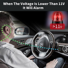 12v 24v Modified car charger with swith on/off with Low voltage warning voltmeter(China)