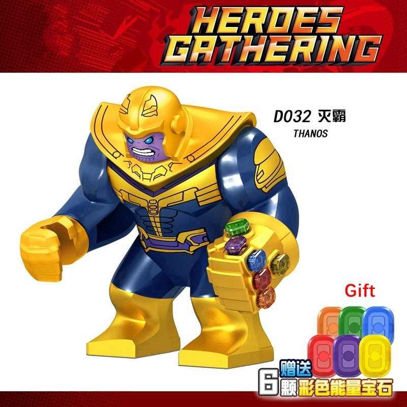 Thanos Avengers Endgame Iron Man Thor Hulk Gamora bulutsusu örümcek adam kaptan Marvel modeli yapı taşları rakamlar çocuk oyuncakları tuğla