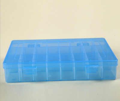 24 compartimento caixa de armazenamento prático ajustável caixa de plástico para grânulo anéis jóias organizador exibição