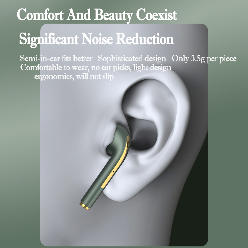 New TWS Bluetooth Headphones Stereo True Wireless Headphone Earbuds In Ear Handsfree Earphones Ear Buds For Mobile Phone 5