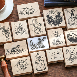 JIANWU Cartoon Cute Little Prince B612 wooden rubber stamps crafts scrapbooking DIY seal bullet journal supplies kawaii