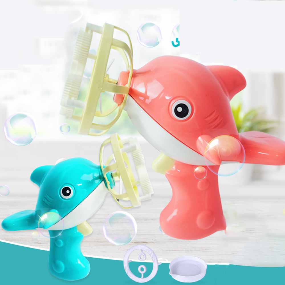 Bubble Blower Machine Toy Kids Soap Water Bubble Gun Cartoon Water Gun Gift For Kids Children Manual Gun Toys