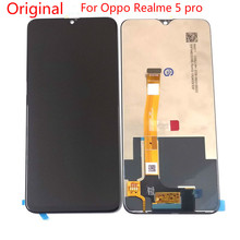 Original 6.3For Oppo Realme 5 pro LCD Screen Display+Touch Screen Digitizer Assembly Replacement real me 5pro Parts jumper original transmitter t16 pro parts fit for replacement t16 v2 accessories hall sensor gimbals lcd screen jp4 in 1 module