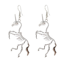 Hello Miss New fashion earrings popular bones unicorn pendant personality womens jewelry holiday gifts