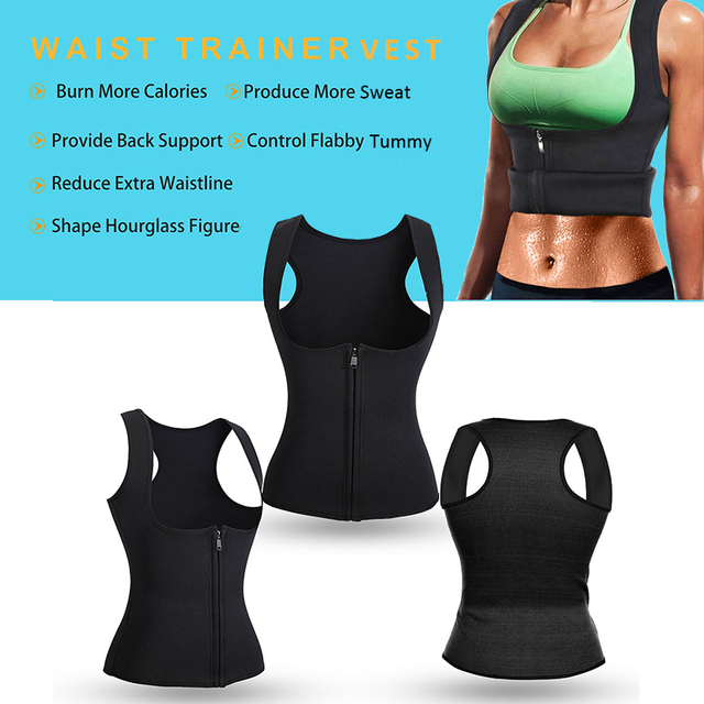 Postpartum Waist Trainer Belly Belt Fat Burning Weight Loss Workout Corset Women Sweat Body Slimming Vest Neoprene Body Shaper 5