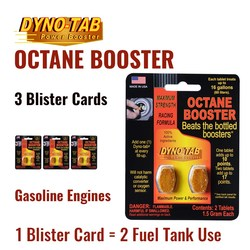Dyno Tab Fuel Octane Booster Gasoline Petrol Of the Fuel Economy Carbon Cleaner (3 Blister Cards)