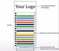 Private label personal logo name eyelash extension ODM OEM random size customize lash extension with custom brand name ellipse
