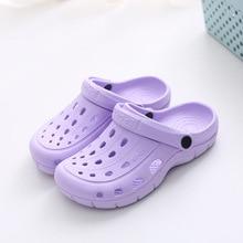 women Crocses 2021 Ladies  Leisure light Thick Sandal Garden Outdoor Floating Beach kids Slipper girls hole Water Shoes