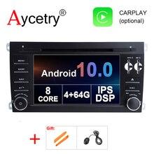 Autoradio multimédia Android 10, 4 go/64 go, 8 cœurs, IPS, DSP, Navigation GPS, dvd, 2 Din, pour voiture Porsche Cayenne S GTS (2003 2010)