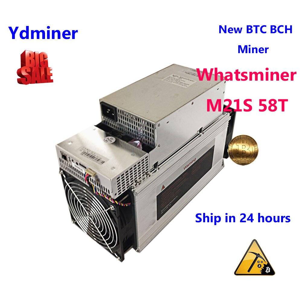 Whatsminer M21s 58 T ASIC SHA-256 Miner New Bitcoin Mining Minerals Mining Machine Farm Mining PSU Mining Better Than S9 M3 T9
