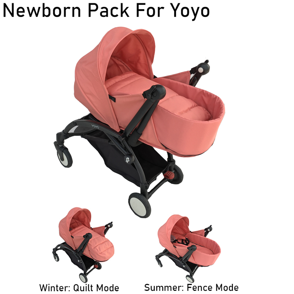 1:1 Yoya Newborn Pack Baby Stroller Accessories Summer Newborn Nest For Babyzen Yoyo Pink Green