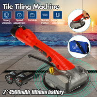 Professional Automatic Tile Tiling Machine 12V Vibrator Tiler 80cm x 80cm Hand held Tile Carrelage Construction Tools 2*Battery