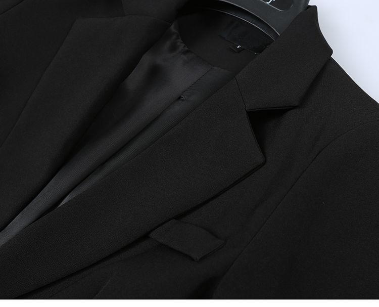 Elegant Black Single Button Women Blazer Jacket 7