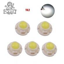 5 шт. T4.2 12V 0,24 W фары для автомобиля светодиодная лампочка освещения приборов лампы фары транспортного средства автомобильный инструмент панель лампы белого и черного, красного, синего, желтого, зеленого,