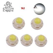 5 sztuk T4.2 LED samochodów klimatyzacja instrument żarówka t4.2 12V 0.24W instrument panel oświetleniowy biały czerwony niebieski żółty zielony