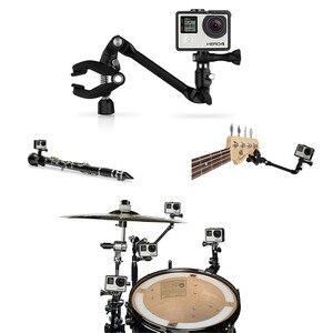 Image 5 - Adjustable Desktop Guitar Mic Music Mount  Rotating Stage Clamp Bracket Holder for GoPro/XIaoyi/SJCAM/AEE Sports Camera Stand